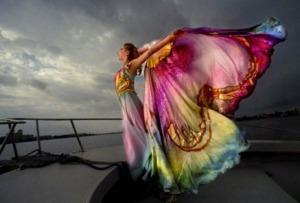 butterfly woman